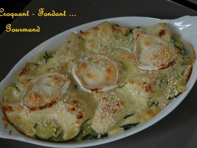 Cassolettes de courgettes au poulet