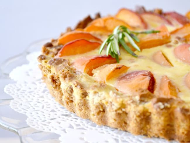 Tarte aux abricots façon cheesecake