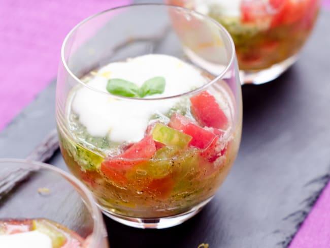Tartare de tomates anciennes
