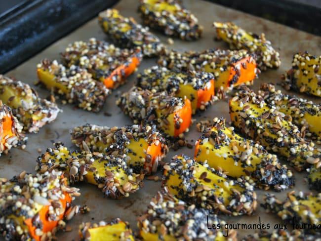 Frites de potimarron aux 6 graines