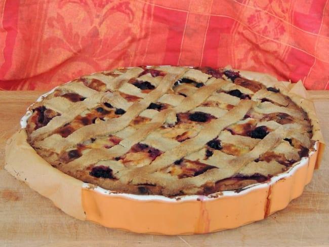 Tarte rustique poires pommes et amandes