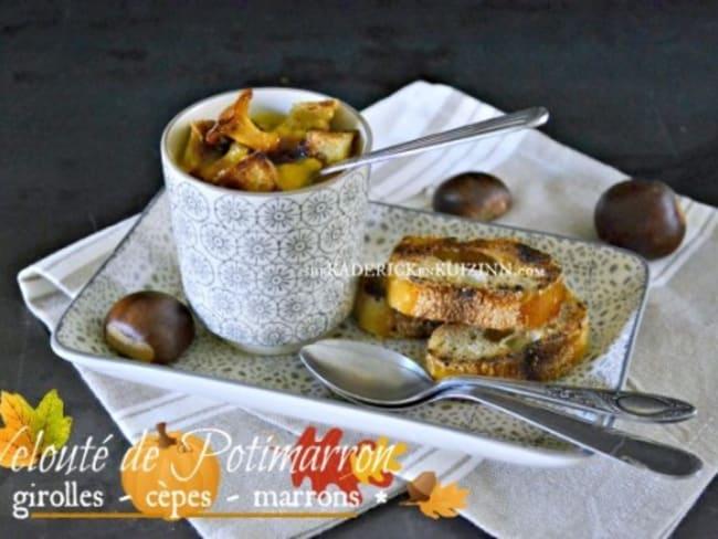 Veloute potimarron chestnut bush cèpes et marrons