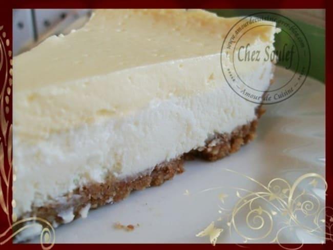 Cheesecake fondant au chocolat blanc