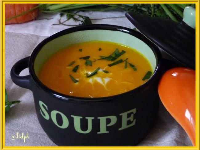 Velouté de carottes, gingembre et orange