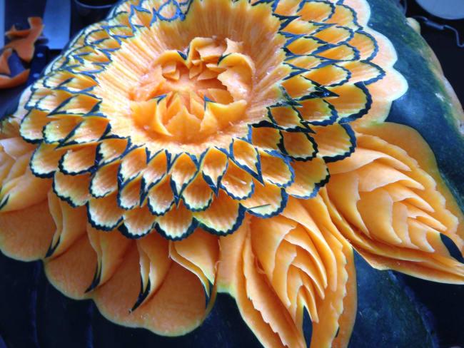 Sculpture de légumes de Michel Pio