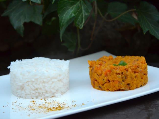 Curry de lentilles corail au lait de coco