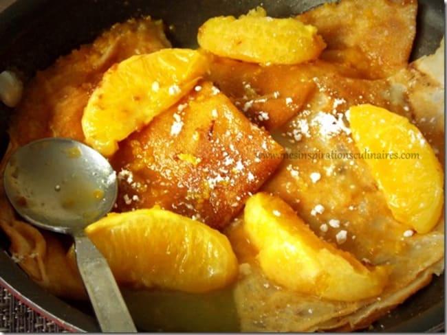 crêpes sans oeufs a l'orange