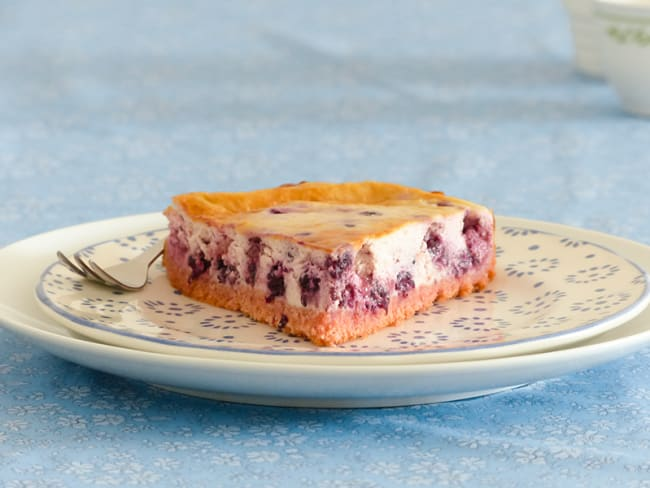 Cheesecake rose aux biscuits de Reims