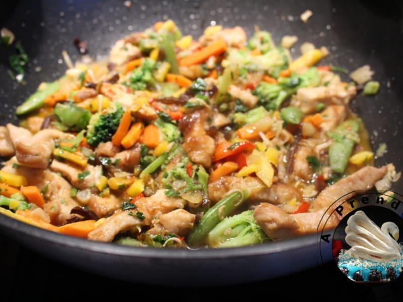 Wok De Legumes Et Poulet Facon Thai Recette Par A Prendre Sans Faim