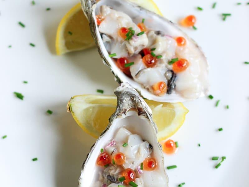Tartare d'huîtres aux noix de Saint-Jacques - Recette par Elle ...