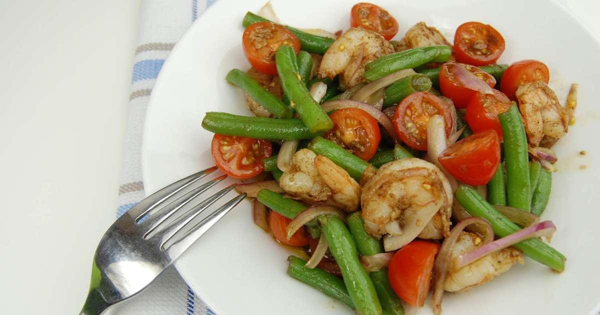 Salade de crevettes et haricots verts recette par tchop - Cuisiner haricots verts surgeles ...