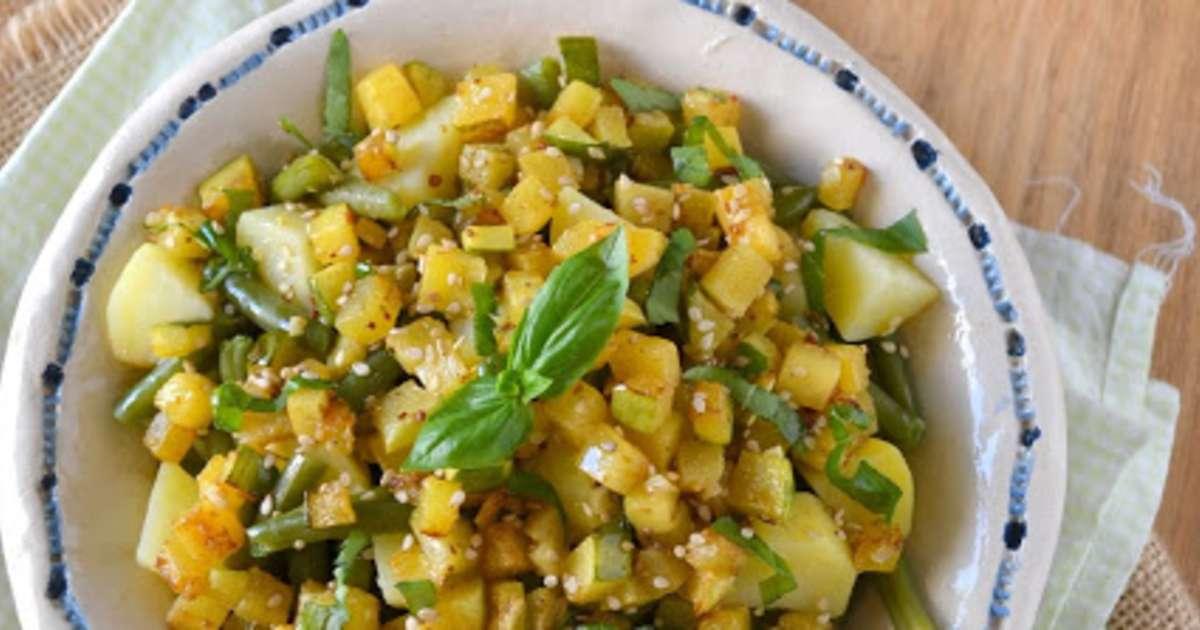 Salade estivale haricots verts pommes de terre - Cuisiner haricots verts surgeles ...