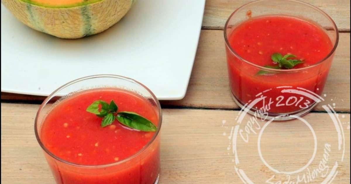 soupe froide de tomates et past que recette par ladymilonguera. Black Bedroom Furniture Sets. Home Design Ideas