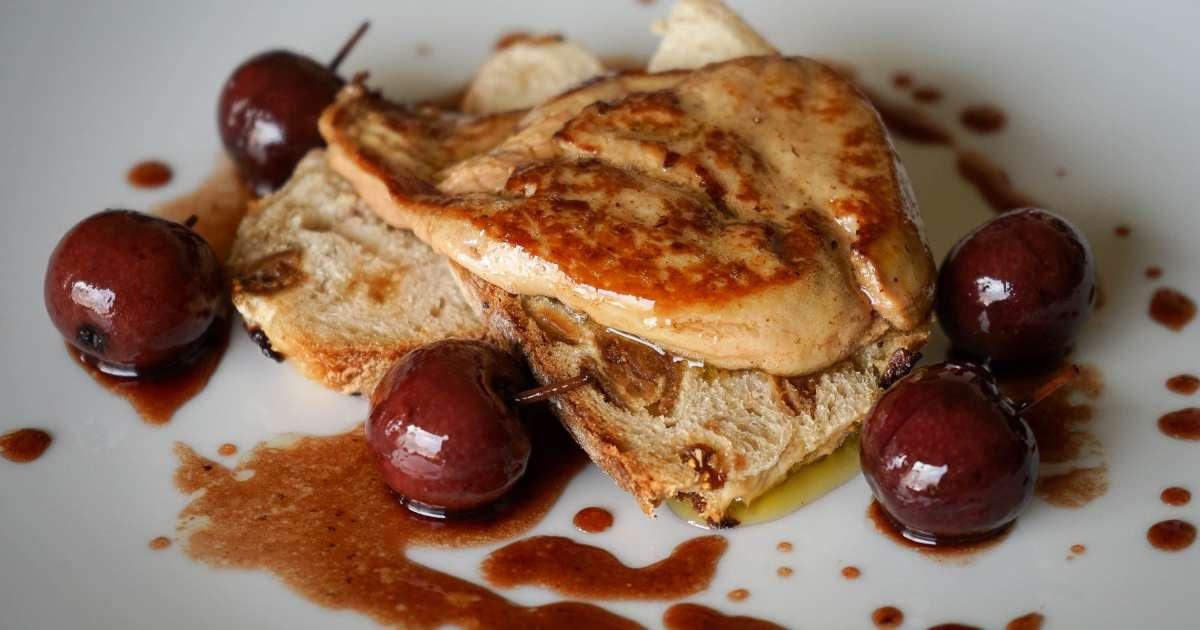 foie gras po l aux cerises recette de foie gras po l. Black Bedroom Furniture Sets. Home Design Ideas