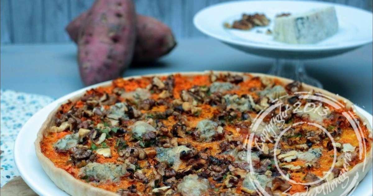 tarte aux patates douces noix et gorgonzola recette par ladymilonguera. Black Bedroom Furniture Sets. Home Design Ideas