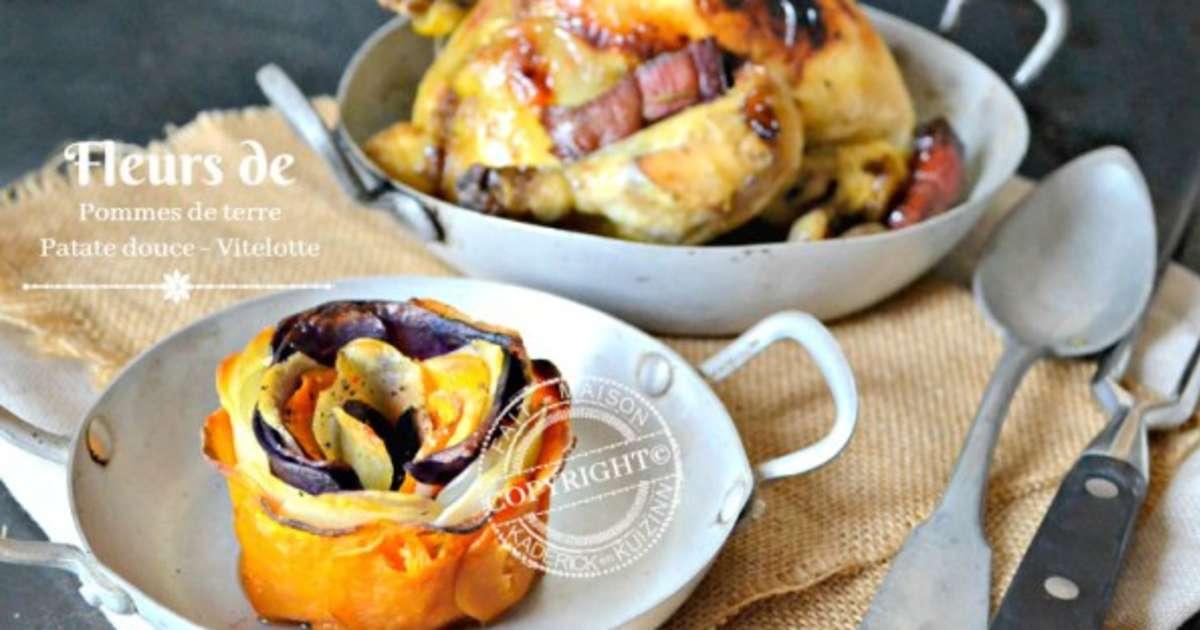 fleurs de pommes de terre patate douce et vitelotte recette par kaderick. Black Bedroom Furniture Sets. Home Design Ideas