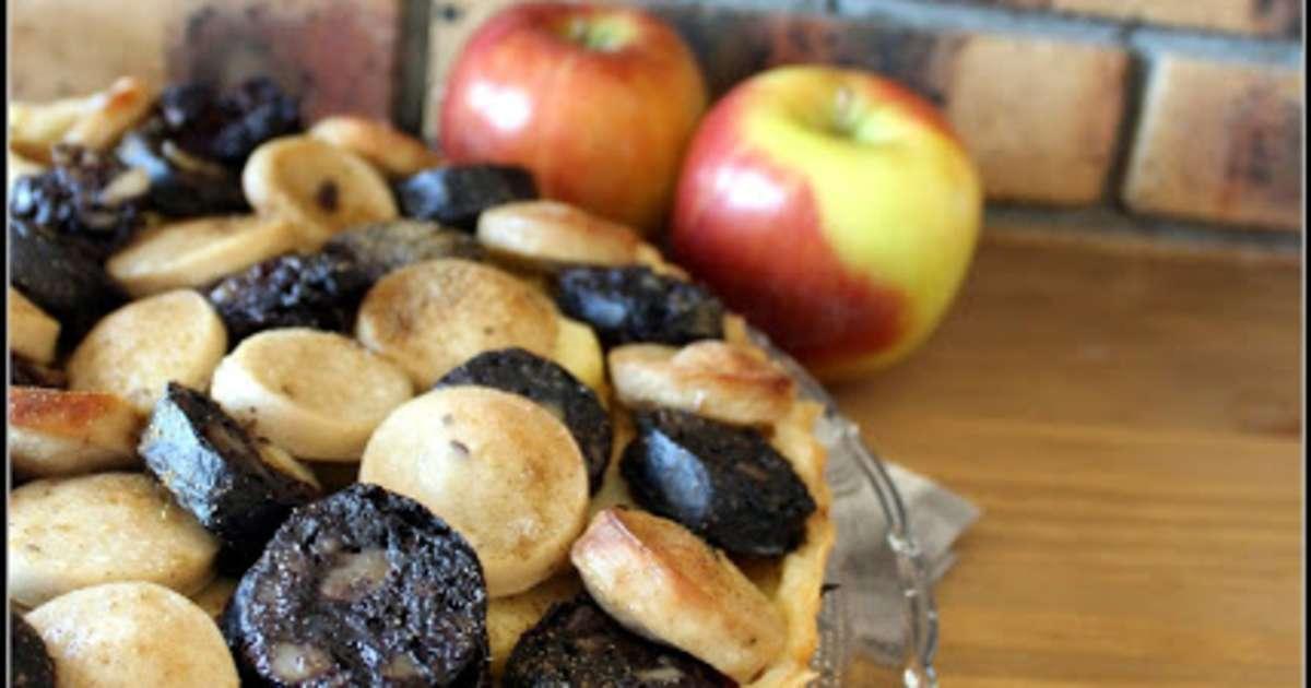 tarte aux deux boudins et aux pommes recette par keskonmangemaman. Black Bedroom Furniture Sets. Home Design Ideas