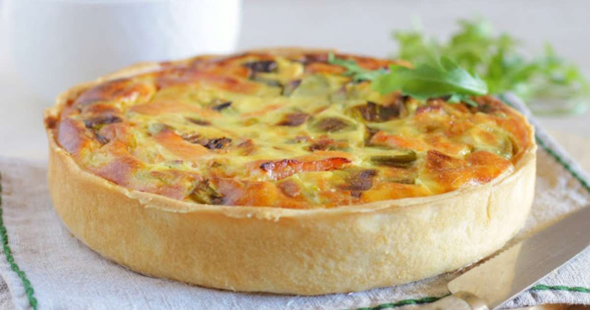 quiche poireaux saumon fum la ricotta recette par aux d lices de g raldine. Black Bedroom Furniture Sets. Home Design Ideas