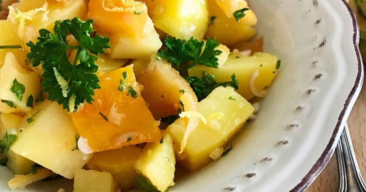 salade de pommes de pomme terre au haddock fum vinaigrette au citron tigr recette par graine. Black Bedroom Furniture Sets. Home Design Ideas