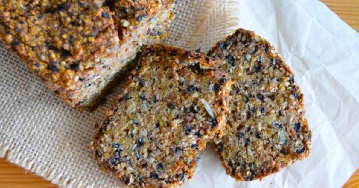 pain sans gluten au sarrasin quinoa et graines recette par rosenoisettes. Black Bedroom Furniture Sets. Home Design Ideas
