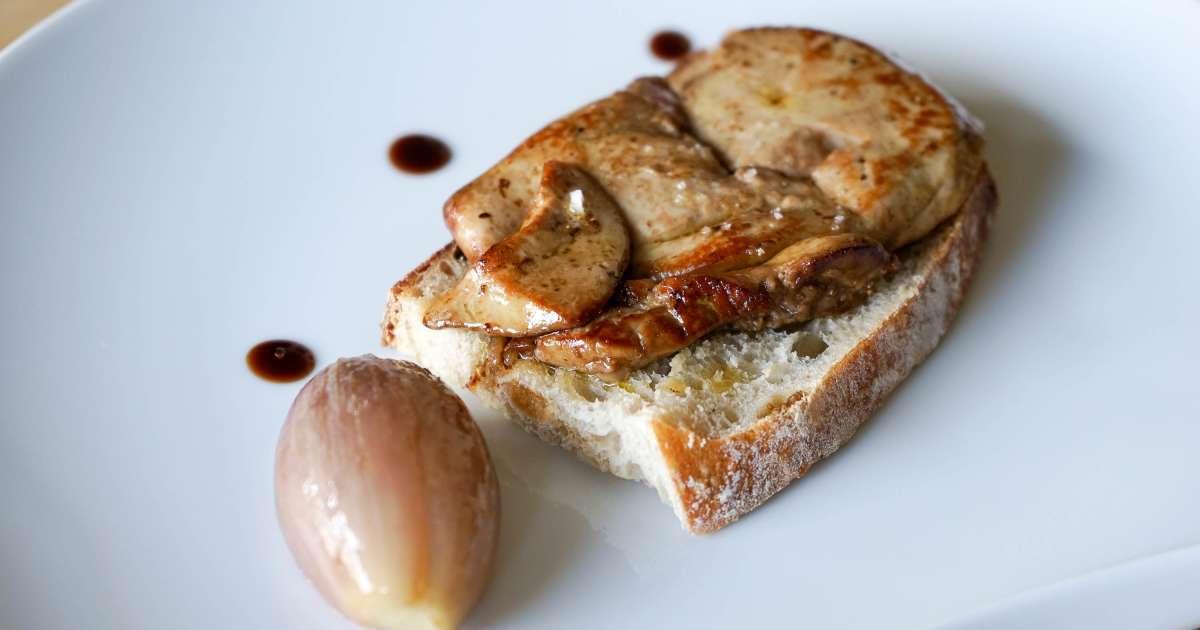 foie gras frais de canard la plancha recette du foie gras cuit la plancha recette par. Black Bedroom Furniture Sets. Home Design Ideas