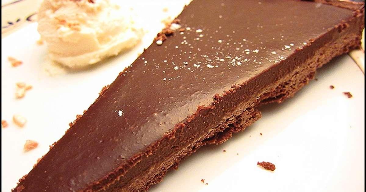 tarte au chocolat de yann couvreur recette par ladymilonguera. Black Bedroom Furniture Sets. Home Design Ideas