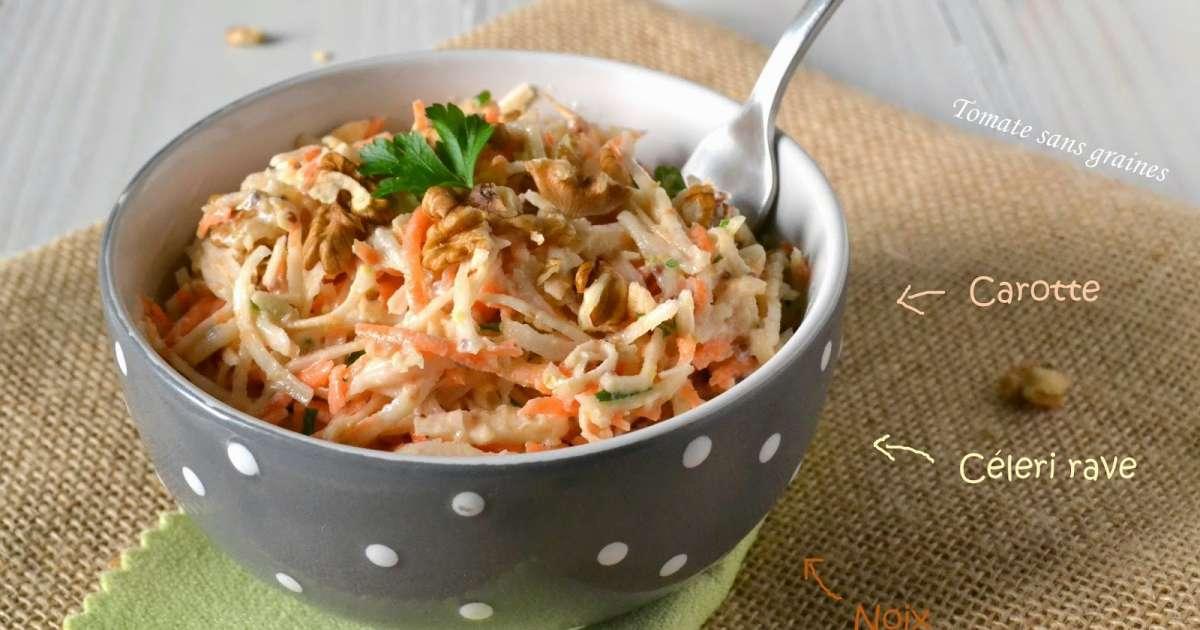 salade de c leri rave et carotte aux noix recette par. Black Bedroom Furniture Sets. Home Design Ideas
