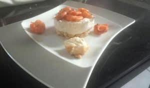 Cheese cake crevettes, romarin et piment d' espelette