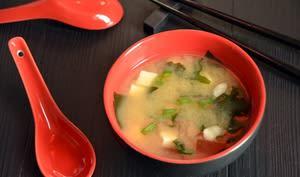 Soupe miso maison