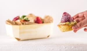 Minis tartelettes à la fraise et au basilic