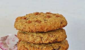 Cookies flocons d'avoine, raisins, fudge