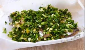 Sardines grillées coriandre ail