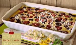 Clafoutis aux fraises mûres et lait d'amande à l'Omnicuiseur