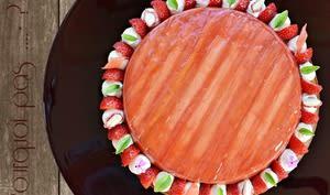 Gat-Ô rhubarbe fraises vanille