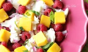 Salade mango framboise et mozza