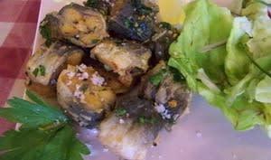 Anguilles frites persillées