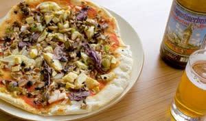 Pizza au coeur d'artichaut