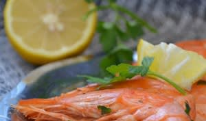 Crevettes à l'ail et au persil