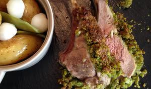 Carré d'agneau en croute de pistache