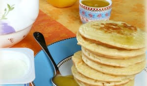 """Pancakes """"pot de yaourt"""" pour les enfants"""
