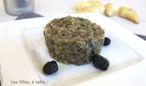 Ecrasé de pommes de terre aux olives noires