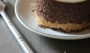 Bavarois au chocolat et noix de coco