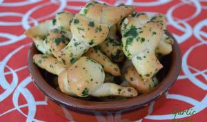 Garlic knots, petits noeuds de pizza à l'ail