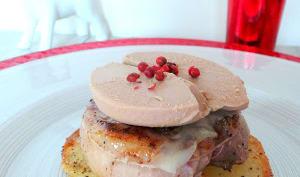 Tournedos de magrets de canard au foie gras et Beaufort