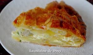 Tourte de pomme de terre et foie gras