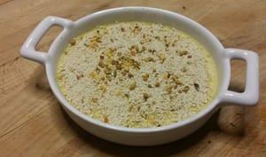 Crème brûlée mascarpone au fenouil et curry