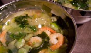Miso aux crevettes