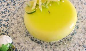 Entremet pomme verte citron vert coco