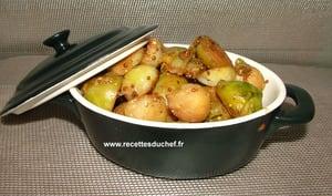 Mini cocottes de choux de Bruxelles rôtis moutarde à l'ancienne