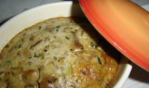 Clafoutis aux champignons en mini cocotte